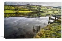 Reflections on Ladybower Reservoir   , Canvas Print