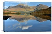 Ben Killilan reflected in Loch Long               , Canvas Print