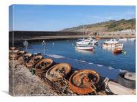 Unplugged - Lyme Regis Harbour, Canvas Print
