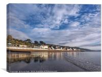 Lyme Regis Seafront Reflections, Canvas Print