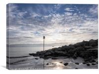 Lyme Regis Seascape - Toned, Canvas Print