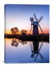 Turf Fen Windmill, Canvas Print