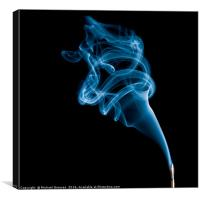 Blue Smoke, Canvas Print