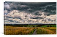 Stormy skies, Canvas Print