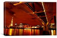 London Millennium Bridge, Canvas Print
