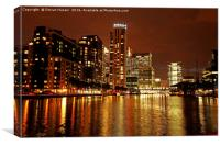 Canary Wharf Nightscape, Canvas Print