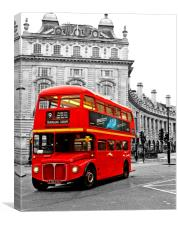 Routemaster red London bus , Canvas Print