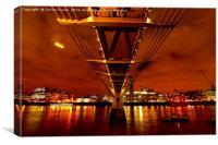 London Millennium Footbridge , Canvas Print