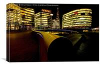 More London Riverside at Night, Canvas Print