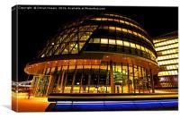 City Hall at night, Canvas Print