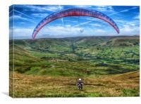 Paraglider, Canvas Print