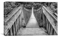 Biblins Footbridge, Canvas Print