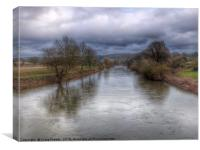 The River Wye at Foy, Canvas Print
