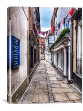 Capuchin Lane, Hereford, Canvas Print
