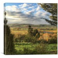 View from Shucknall Hill, Canvas Print