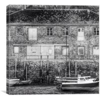 Harbourside in Looe, Canvas Print