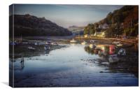 Reflections at Looe Harbour, Canvas Print