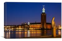 Night Stockholm, Canvas Print