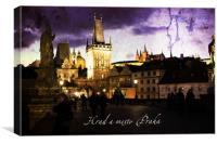 Night Prague, Canvas Print
