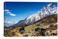 Sagarmatha National Park in the Nepal Himalaya., Canvas Print