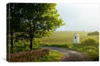Chapel in countryside, South Bohemian Region, Czec, Canvas Print