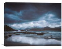 Vikten Beach, Canvas Print