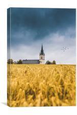Ås church, Canvas Print