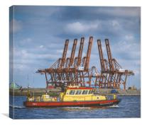 Container Transfer Terminal, Canvas Print
