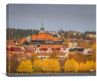 Autumn in Östersund, Canvas Print