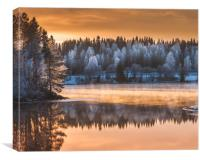 Dreamy winter sunset, Canvas Print