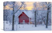 A cold winter day in Sweden, Canvas Print