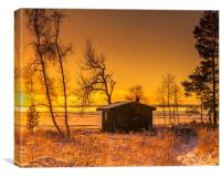 Sunset during the Swedish winter, Canvas Print