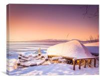 winter in Sweden, Canvas Print