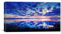 Sunset in Jämtland Sweden, Canvas Print