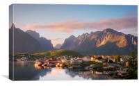Sunset over Reine on the Lofoten, Canvas Print