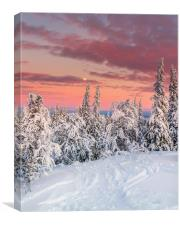 Åre Sweden in the winter., Canvas Print