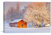 Winter in Jämtland Sweden, Canvas Print