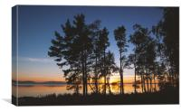 Sunset in the north of Sweden, Canvas Print