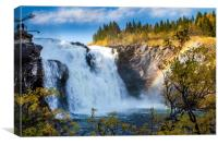 Biggest waterfall of Sweden, Canvas Print