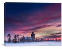 Swedish sunset, Canvas Print