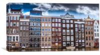Windows of Amsterdam, Canvas Print