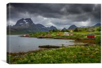 Lofoten in Norge, Canvas Print