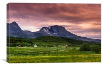 Sunset in Norway, Canvas Print