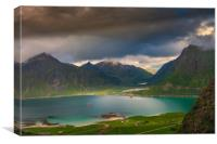 Hiking on the Lofoten, Canvas Print