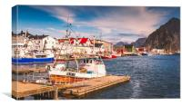 Fishing boat in Norway, Canvas Print