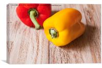 red and yellow pepper, Canvas Print