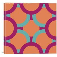 pattern of colored circles, Canvas Print