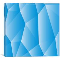 Blue white polygonal, Canvas Print