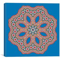 Circular pattern in arabic style, Canvas Print
