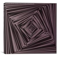 geometric optical illusion, Canvas Print